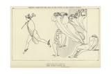 Mercury Conducting the Souls of the Suitors to the Infernal Regions Giclee Print by John Flaxman