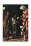 Charity of St Elizabeth, 1613 Giclée-tryk af Bartolomeo Schedoni