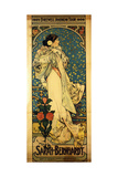 A Poster for Sarah Bernhardt's Farewell American Tour, 1905-1906, C.1905 Giclee Print by Alphonse Marie Mucha