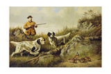 Amos F. Adams Shooting over Gus Bondher and Son, Count Bondher, 1887 Giclee Print by Arthur Fitzwilliam Tait