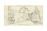 Polydamus Advising Hector to Retire from the Trench Giclee Print by John Flaxman