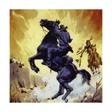 Buffalo Bill Battled Yellow Hand, Leader of the Cheyennes Giclee Print
