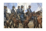 Dragoons in Champagne, April 1917 Giclee Print by Francois Flameng