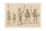 French and Spanish Troops from the Second Half of the 16th Century Giclee-trykk av Raphael Jacquemin