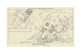 Ajax Defending the Greek Ships Against the Trojans Giclee Print by John Flaxman