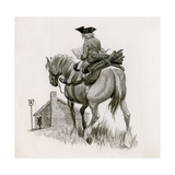 George Washington Riding to School, Taking Logs for the Fire Giclee Print by Peter Jackson