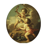 An Allegory of Love - Putti Disporting in a Landscape Giclee Print by Etienne Jeaurat