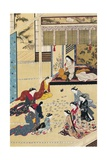 Playing Cards in a Home for Women Giclee Print by Hishikawa Moronobu