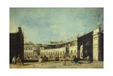 Parade for Feast of Ascension in Piazza San Marco Giclee Print by Francesco Guardi