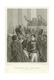 Napoleon Bonaparte Surrounded by Members of the Council of Five Hundred Giclee Print by Denis Auguste Marie Raffet