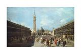 St Mark's Square in Venice, Ca 1760 Giclee Print by Francesco Guardi