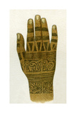 Example of Dayak Hand Tattoo Designs, Borneo, 1894 Giclee Print