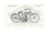 Detailed Specifications of the 1913 Sears Leader Auto-Cycle, 1913 Giclee Print by  American School
