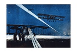 Returning from Night Flight, Simulated Bombing, 1918 Giclee Print by Francois Flameng