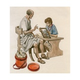 Julius Caesar as a Boy, Learning to Count Using an Abacus Giclee Print by Peter Jackson
