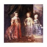 Children of Charles I of England Giclée-Druck von Anthony Van Dyck