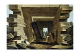 Interior of Jupiter's Temple, 1805 Giclee Print by Luigi Mayer