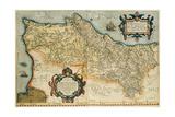 Map of Portugal, Theatrum Orbis Terrarum Giclee Print by Abraham Ortelius