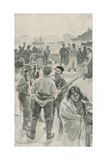 The Arrival of Annual Ship at Fort York, Hudson Bay Giclee Print by William Rainey