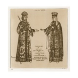 Slavic Princes in Costume as the Emperor and Empress of Costantinople Giclee-trykk av Raphael Jacquemin