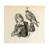 Prince Richard, the Future Richard the Lionheart, with a Hawk Giclee Print by Peter Jackson