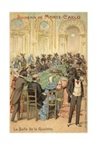 Anthropomorphic Illustration of the Follies of the Casino at Monte Carlo Giclee Print