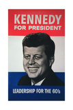 John F. Kennedy Presidential Election Campaign Poster, 1960 Giclee Print