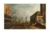 Little St Mark's Square Towards San Giorgio, Venice Giclee Print by Francesco Guardi