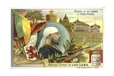 Emperor Menelik II of Ethiopia and His Palace at Addis Ababa Giclee Print