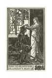 Elaine Ties Her Sleeve Round Sir Lancelot's Helmet Giclee Print by Henry Justice Ford