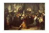 Mary Queen of Scots Being Led to the Scaffold, 1827 Giclee Print by Francesco Hayez