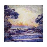 Cote Scene, Sunset, Scene De Cote, Coucher De Soleil Giclee Print by Frans Gaillard