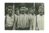 Steelworkers at Russian Boarding House, Homestead, Pennsylvania, 1907-8 Giclee Print by Lewis Wickes Hine