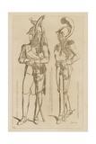 Costumes at the Gates to the Coronation of Napoleon I Giclee-trykk av Raphael Jacquemin