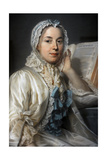 Madame Ferrand Meditating on Newton, 1753 Giclee Print by Maurice Quentin de La Tour