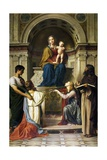 Madonna with Child Enthroned with Saints, 1872 Giclee Print by Alessandro Franchi
