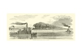 Confederate Transport Bringing Cattle to Vicksburg, February 1863 Giclee Print