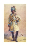 Major-General Maharaja Sir Pratap Singh Bahadur, Indian Soldier Giclee Print by Alfred Crowdy Lovett