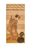Actor Arashi Sangoro II in Female Part Giclee Print by Katsukawa Shunsho