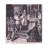 Arrest of Archbishop Geoffrey in a Monastery at Dover Ad 1191 Giclee Print by Francois Edouard Zier