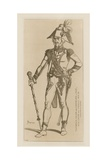 Drum Major of Chasseurs a Pied of the Consular Guard, 1802-04 Giclee-trykk av Raphael Jacquemin