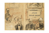 The Auctioneers at the Edgar Degas Studio Sale of December 1918 Giclee Print by Paul Cesar Helleu