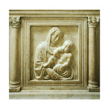 Madonna and Child, Detail from the Altar, Old Sacristy Giclee Print by Donatello