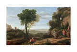 Landscape with David at the Cave of Abdullam, 1658 Giclee Print by Claude Lorrain