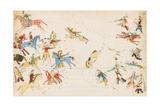 A Battle Between the Crow and Cheyenne Tribes, 1874-75 Giclee Print