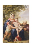 The Holy Family with St John the Baptist Giclee Print by Pelagio Palagi