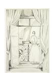 The Balcony over the Sea; Le Balcon Sur La Mer, 1923 Giclee Print by Jean-Emile Laboureur