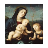 Madonna with Child and St John the Baptist Giclee Print by Francesco Francia