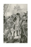 Admiral Rodney Directs the Battle on Board the Formidable Giclee Print by William Heysham Overend