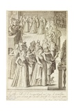 Parties and Dances in Venice, 1610 Giclee Print by Giacomo Franco